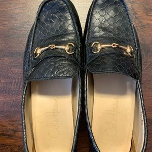 Cole Haan Shoes - COLE HAAN Shelby Snake Embossed Leather Loafer